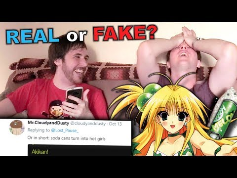 MY NON-OTAKU BROTHER TRIES TO GUESS IF AN ANIME IS REAL OR FAKE