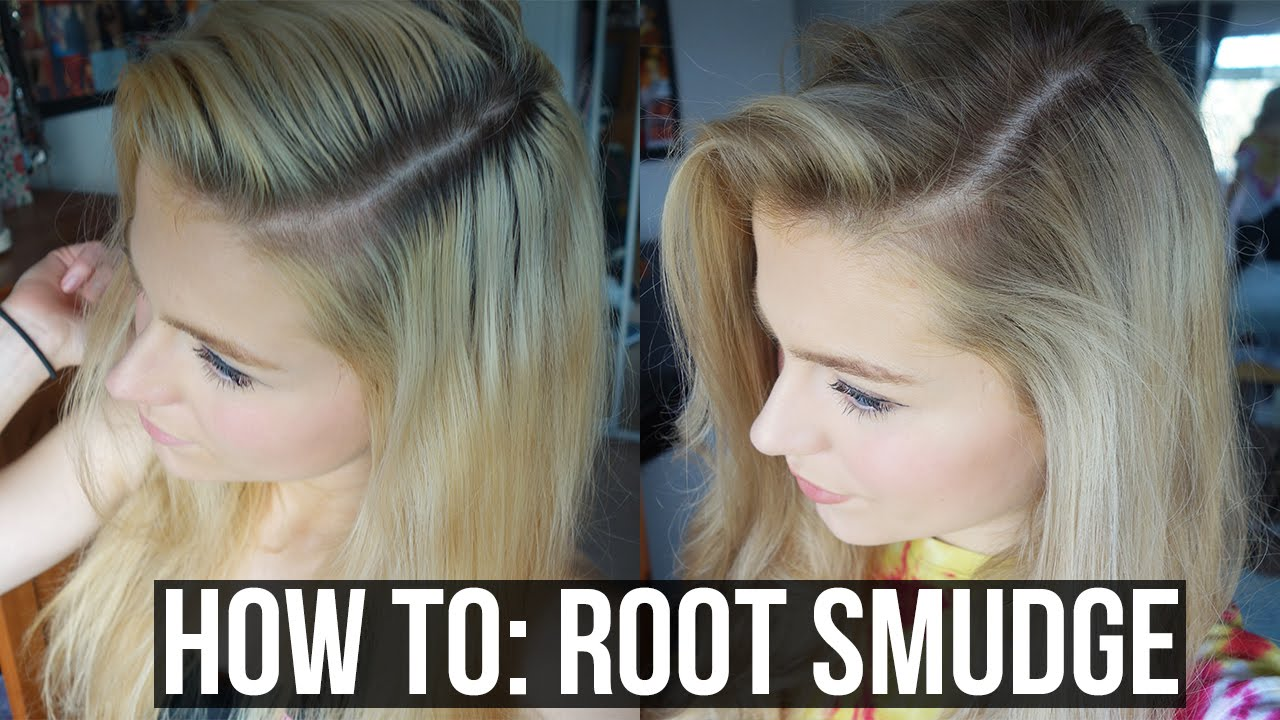 Diy Balayage Sombre Root Smudge Blonde Hair With Dark Roots