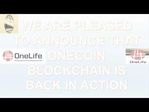 OneCoin Blockchain is back in action.. 😁💪👌👌