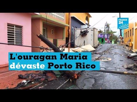 En images : Porto Rico, frappé de plein fouet par l'ouragan Mari