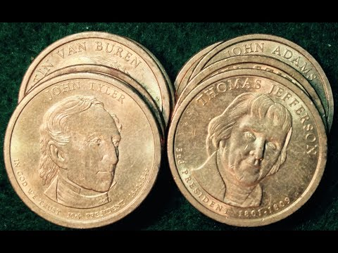 2007-2009 Presidential Dollar Coins - Many Edge Errors To Look For