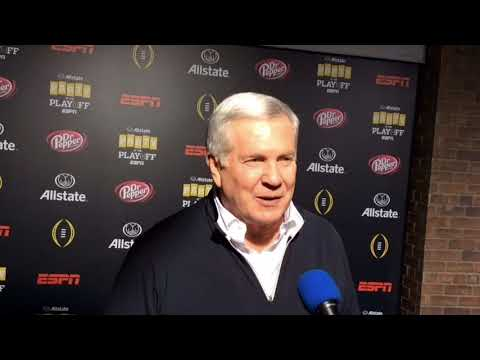 CFB playoff championship Mack Brown talks game and Tommy Nobis big