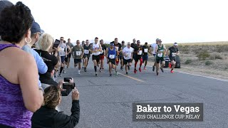 The U.S. Customs and Border Protection headquarters team competes in the Baker to Vegas relay race