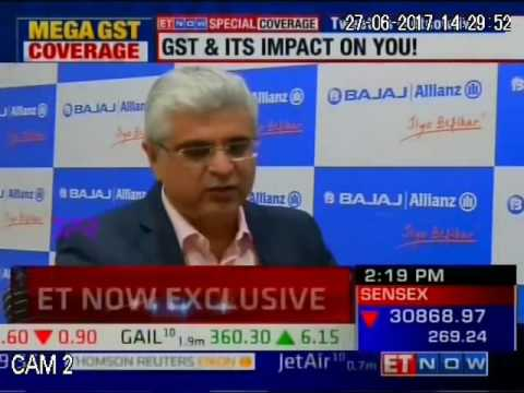 Mr Tarun Chugh, MD & CEO, Bajaj Allianz Life Insurance on ET Now