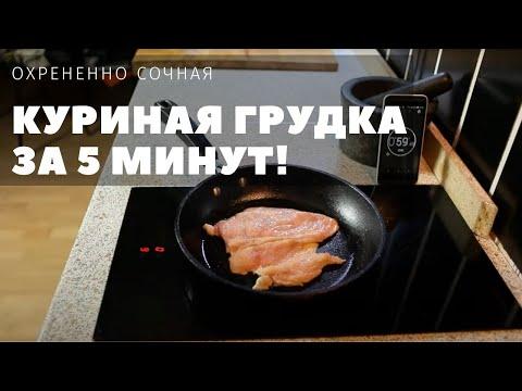 Как приготовить сочную грудку курицы на сковороде