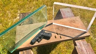 9MM VS BULLETPROOF GLASS VS LEXAN SHEET