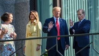 Trump has breakfast with Finland's president ahead of summit with Putin