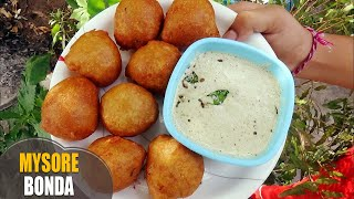 Wheat Flour Mysore Bonda Mysore Bajji Recipemorning tiffin or evening snack with english titles