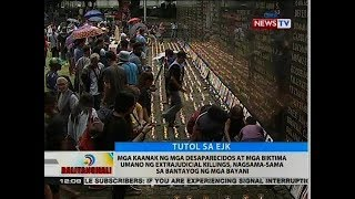 BT: Mga kaanak ng mga desaparecidos at mga biktima ng ejk, nagsama-sama sa bantayog ng mga bayani