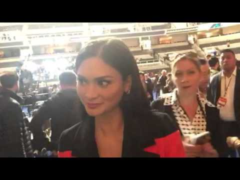 Miss Universe Pia Wurtzbach Interview Super Bowl Media Day #SB50