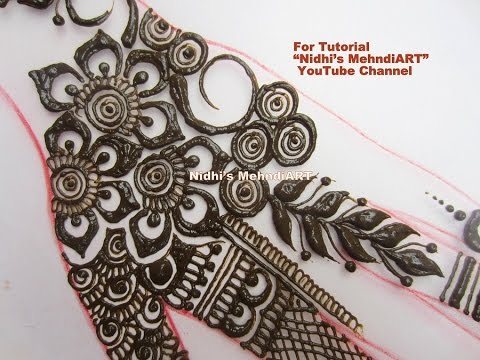 Mehndi Art Step By Step : Fashionable floral traditional henna mehndi design tutorial step