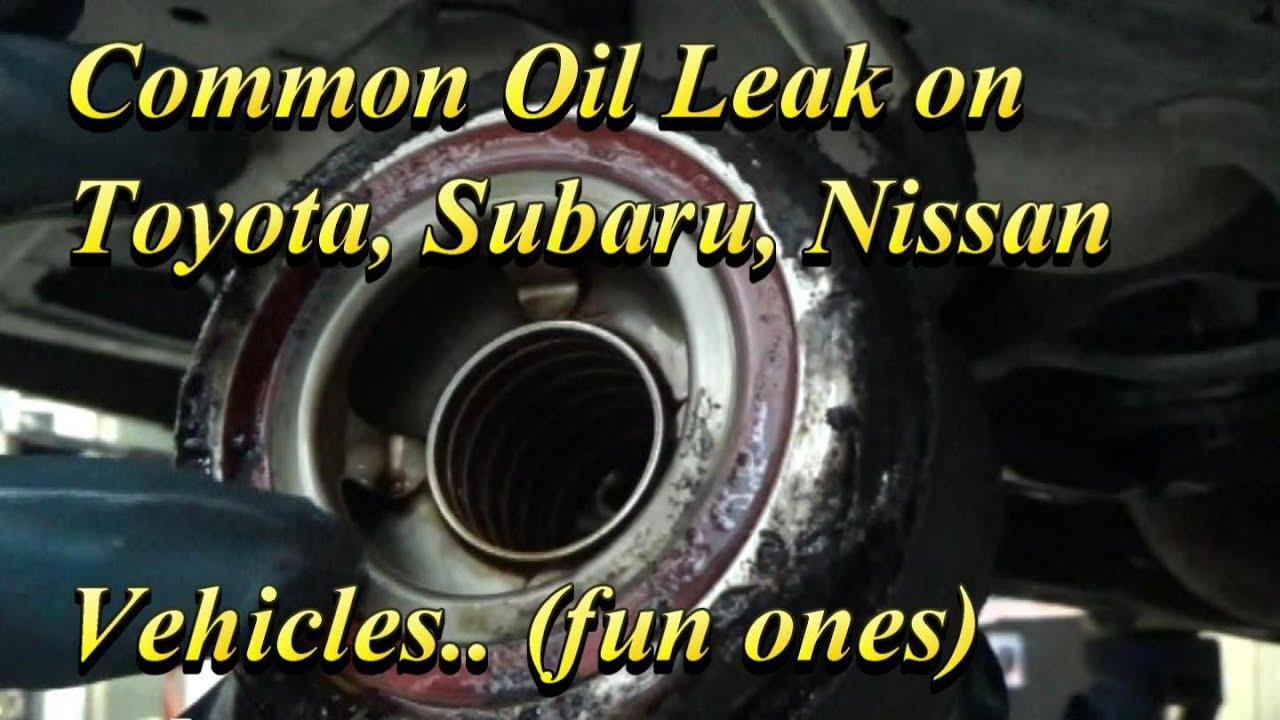 Common Oil Leak on FUN Subarus and Nissans - YouTube