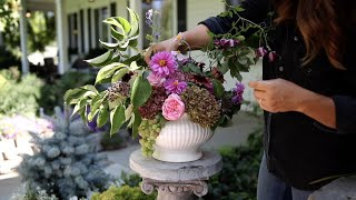 How I Make A Flower Arrangement! 💐// Garden Answer