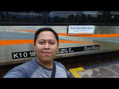 Naik Kereta Api Eksekutif Stainless Steel Terbaru 2018 - Argo Parahyangan