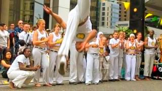 Afro-Brazilian Block Party Axé Capoeira Vancouver July slow motion martial arts samba