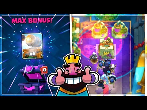 MAX BONUS CARTS + LEGENDARY GRAVEYARD Deck! Clash Royale