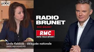 HOMMAGE D'UNITÉ SGP POLICE A MAGGY BISKUPSKI SUR RMC - INTERVENTION DE LINDA KEBBAB