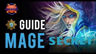 Deck mage secret low cost + Match de test  en classé
