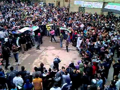 حماه-زف الشهيد/عبدالله الأسطة جمعة الزحف للساحات 30/12/2011