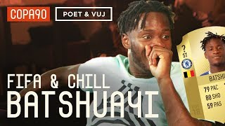 Exclusive Batshuayi Reacts to his FIFA 18 Rating  FIFA and Chill ft Poet and Vuj