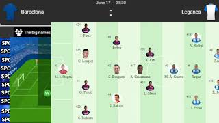 La liga leganes vs barcelona live streaming this match will be played at and start 1.30am from indian standard time on 17th june 2020...