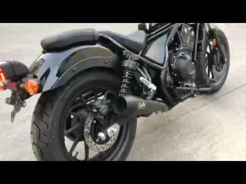 Diablo Dark Thunder Slip on For 2017 Honda Rebel500 By K-SPEED