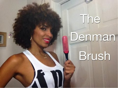 the denman brush review how to detangle natural curly hair niaknowshair youtube