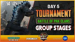 Battle of PAK clans | 1st Tourney Day-5| Predator and Sneak Gaming