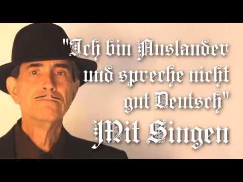 Ich bin Ausländer und spreche nicht gut Deutsch, Lyrics, Translation, Chords, Solo voice