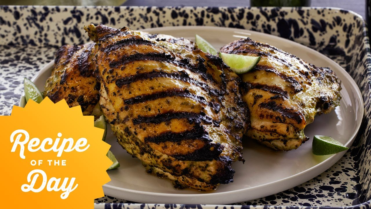 Recipe Of The Day Guy S Caribbean Jerk Chicken Food Network Youtube