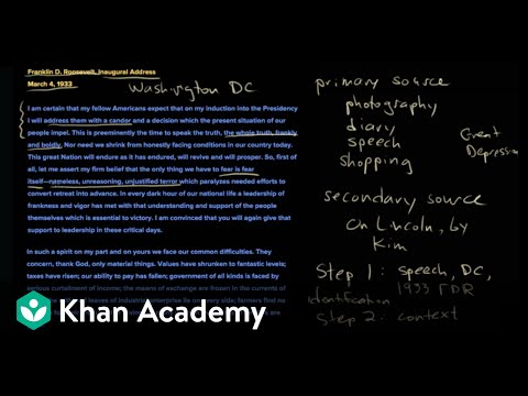 How to read a document | The historian's toolkit | US History | Khan Academy