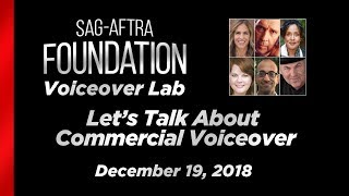 Voiceover Lab: The Founders' Series - Let's Talk About Commercial Voiceover