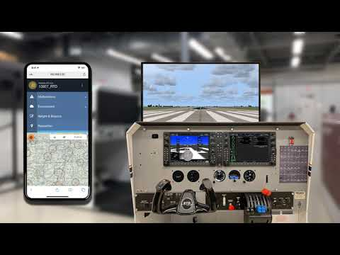 Frasca Reconfigurable Training Device (RTD) Power Up and IOS demonstration