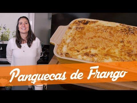 PANQUECAS RECHEADAS DE FRANGO - Carol Fiorentino