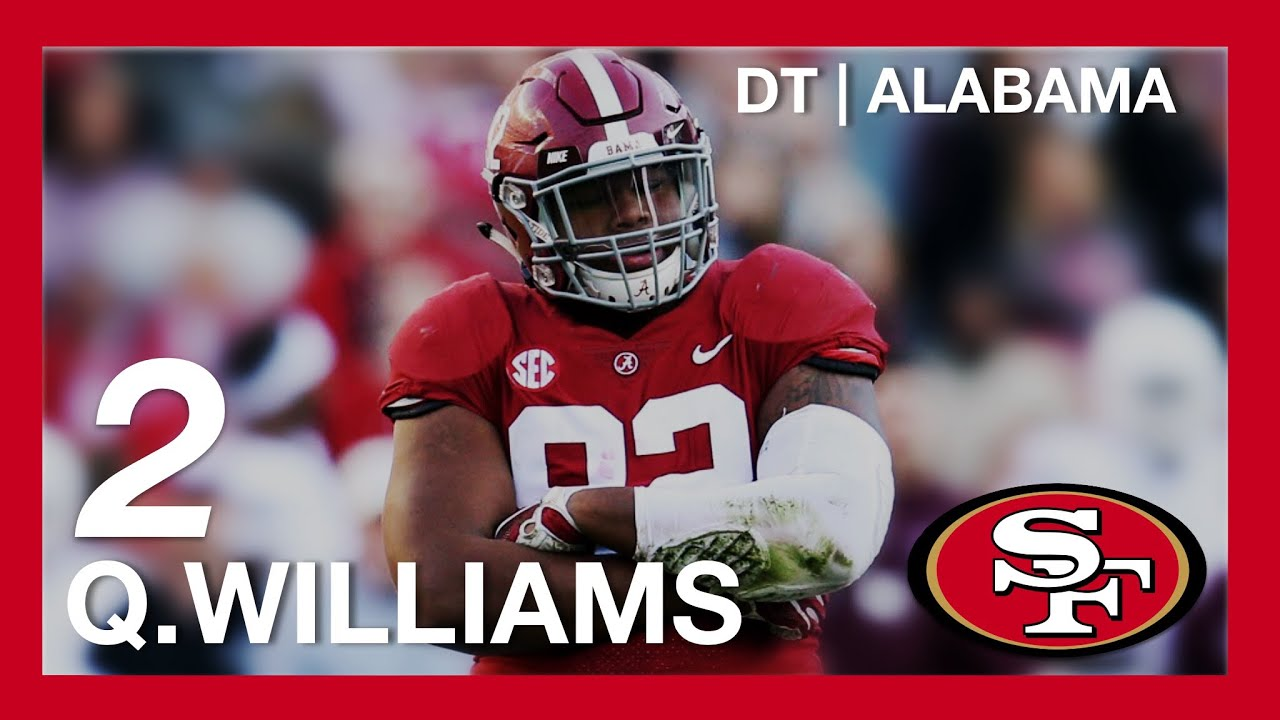 4982b1b9dca 2019 NFL Mock Draft - San Francisco 49ers 2nd Pick - DT Quinnen Williams  From Alabama