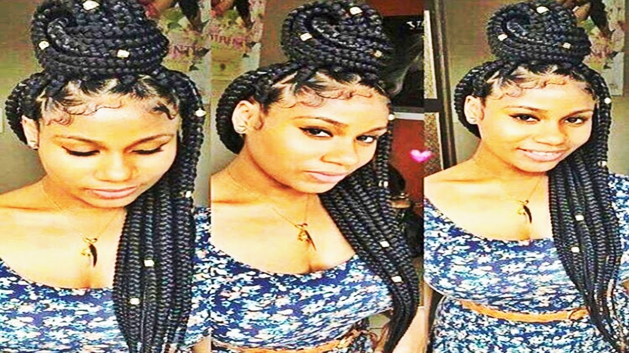 Easy and Showy Braids Hairstyles for Natural Hair 2017 - YouTube