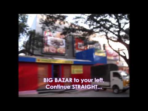 Driving Directions from Mantri Mall to Big Bazar Malleswaram Bangalore +91 99001 70130