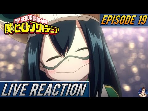 Boku no Hero Academia Season 2 Episode 19 LIVE REACTION - Tsuyu's Intership!