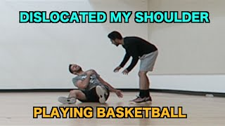 DISLOCATED MY SHOULDER PLAYING BASKETBALL (POPPED BACK IN)