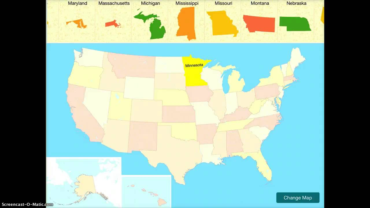 Usa Map Puzzle App Demonstration Youtube