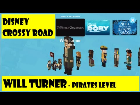 Disney Crossy Road Game - Pirates of the Caribbean - Will Turner Gameplay Daily Missions Unlocked