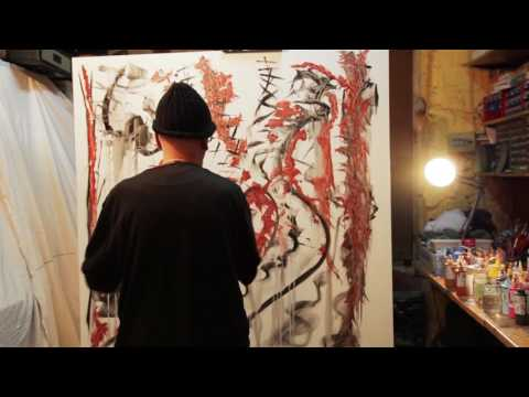 "Abstract Art Painting Demo – Original by Lluis Garriga-  "" Setsu – Getsu – Ka"