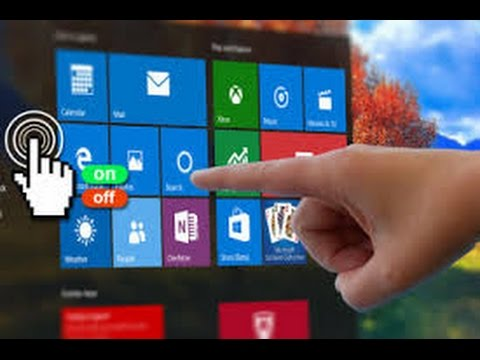 How To Enable And Disable Touch Screen Without HID- Compliant Touch In Windows 10 2016