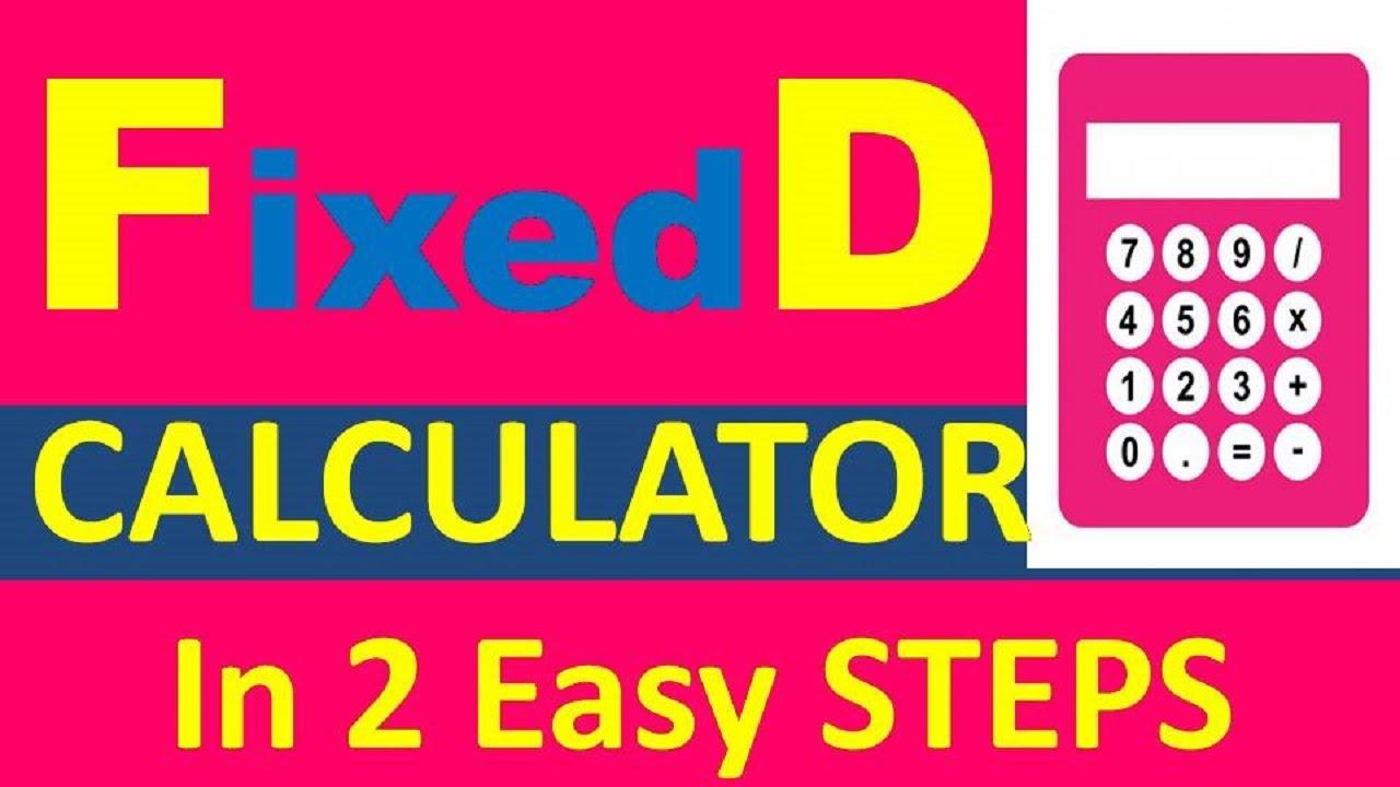 Fixed Deposit Calculator Fd Calculator Monthly Interest Sbi 2019 Youtube