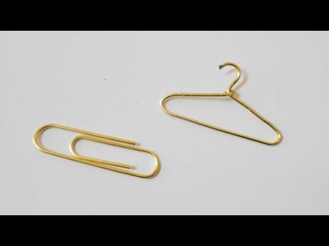 How To Make A Cute Miniature Clothes Hanger - DIY Crafts Tutorial - Guidecentral