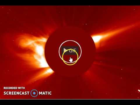 COMET HITS THE SUN  WTF??  GIF EXAMINED