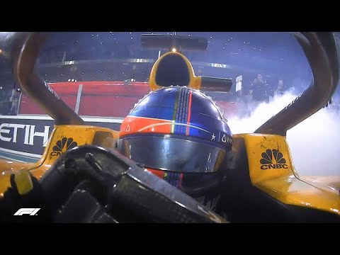 Alonso, Hamilton & Vettel Do Donuts! | 2018 Abu Dhabi Grand Prix