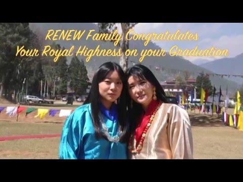 Graduation greetings to Her Royal Highness Ashi Euphelma Choden Wangchuck