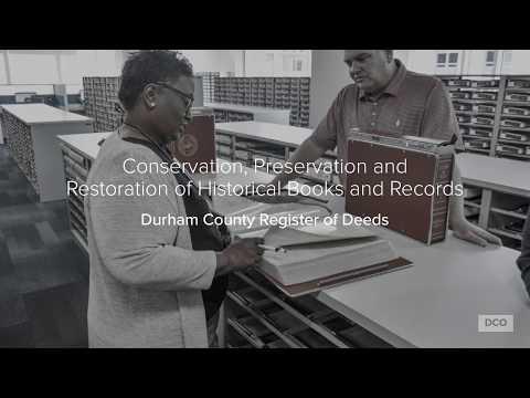 Register of Deeds Book Restoration