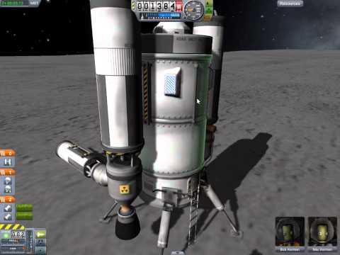 Kerbal Space Program - landing on Mun, return to space center